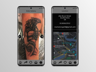 Creation Tattoo Studio UX Design icon logo illustration ux figma ux design uiux ui design mobile tattoo studio tattoo