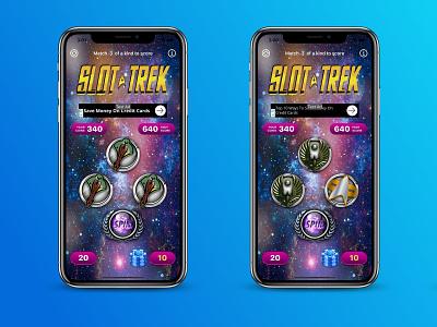 Slot Trek - a slots game UI mobile design mobile app design figma ui mobile ui design ux design uiux mobile ui design