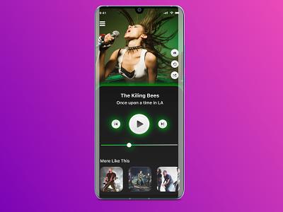 Music Player UX mobile design mobile app design figma ui mobile ui design ux design uiux ui design mobile