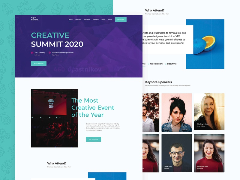 Creative Summit Landing Page directory events tickets business responsive website theme wordpress creative  design page landing summit creative