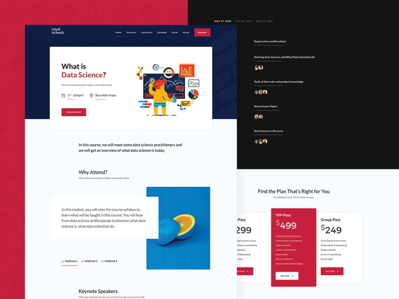 Data Science Course Landing Page clean template events tickets responsive website theme wordpress page landing course science data