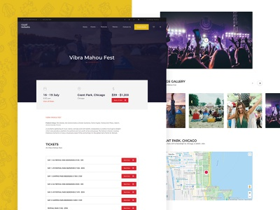 Event Page modern clean ux ui design events tickets responsive theme wordpress event