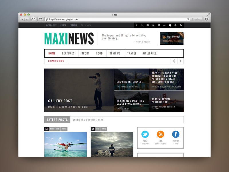 Maxinews Premium Review Magazine Theme By Alex Gurghis On Dribbble