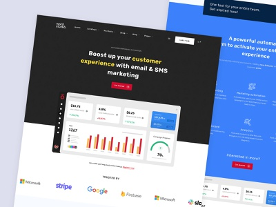 Saas Landing Page (RoyalStudio – Agency & Marketing Theme) coworking corporate clean minimal modern portfolio ux ui responsive website theme wordpress agency app saas