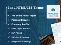 WPJobus - Job Board, Resume HTML/CSS