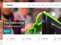 Event - WordPress Landing Page Theme