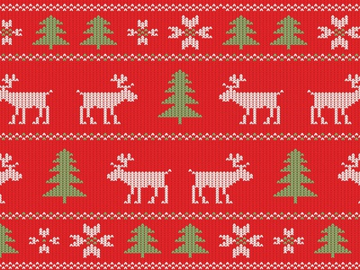 Red Christmas Pattern Sweater