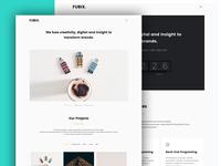 Fubix Sneak Peek (WIP WordPress Theme)