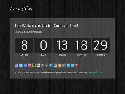 FancyShop Under Construction Page