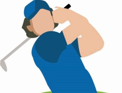 Golfista flat design ilustration ilustrator flat golf