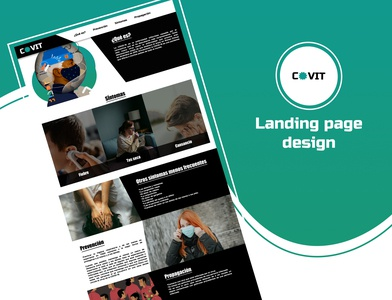 covid :landing page dailyui landing design landingpage covid