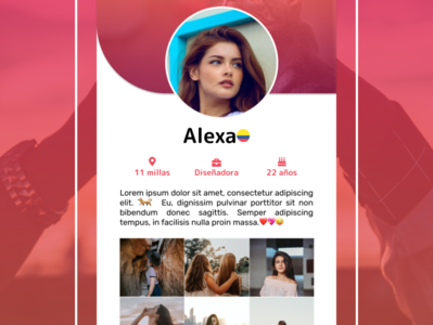 date-app-profile uiux uxui design uxdesign uxui ux love date dailyui movil ui