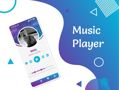 Player music playermusic music player movil ui illustration dailyui