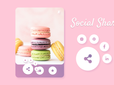 Social Share ui button ux dayliui social share