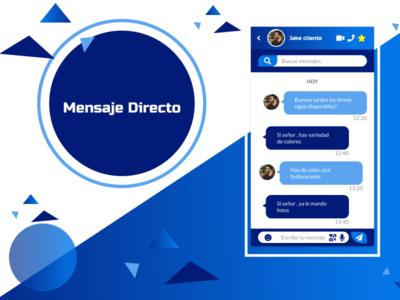 Mensaje directo dailyuichallenge movil mobile ux design ux ui daily daily 100 challenge dailyui