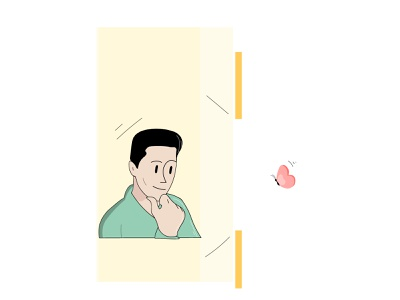 Live in Present Moment flat vector design creative concept color character design character animation illustration