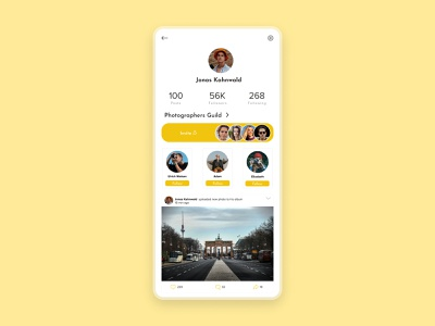 User profile page ui concept color design