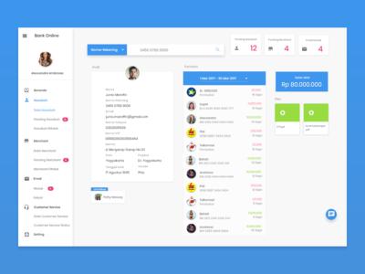 Customer Relationship Dashboard  for Online Banking