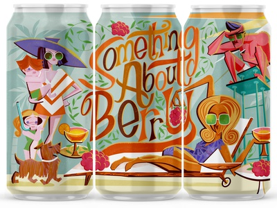 Something About Berry for Local Brewing Co. beer can beer dog character design liquor illustration custom type beer label design beer label