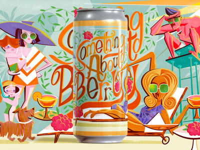 Something About Berry Mockup custom type illustration beer label beer can