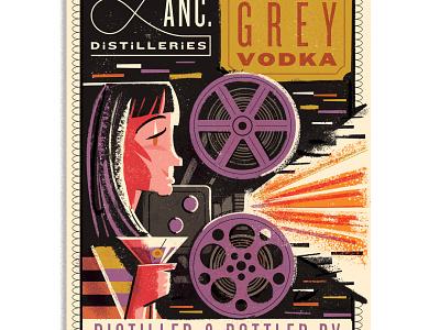 LD Grey Vodka Label label design