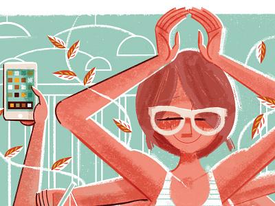 Mindfulness + Motherhood mindfulness baby midcentury illustration editorial illustration