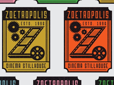 Zoetropolis Cinema Stillhouse logo redesign pennsylvania lancaster logo identity