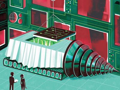 Super Secret Data Mining digitalillustration scottyreifsnyder illustration datamining editorialillustration