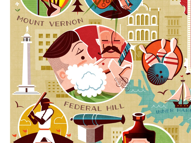 Close shave! shaving maps illustration editorial illustration