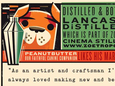 Peanutbutter like his martinis neat! package design martini vodka liquor