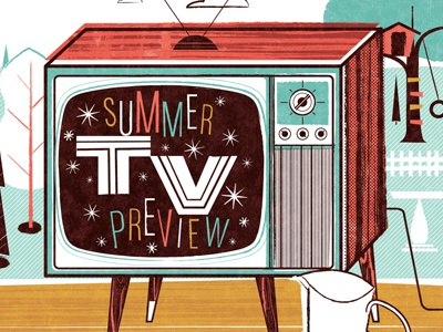 Summer tv dribbble