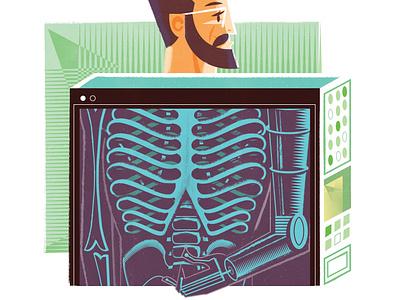 Prostetics + Robotics wip illustration editorial illustration
