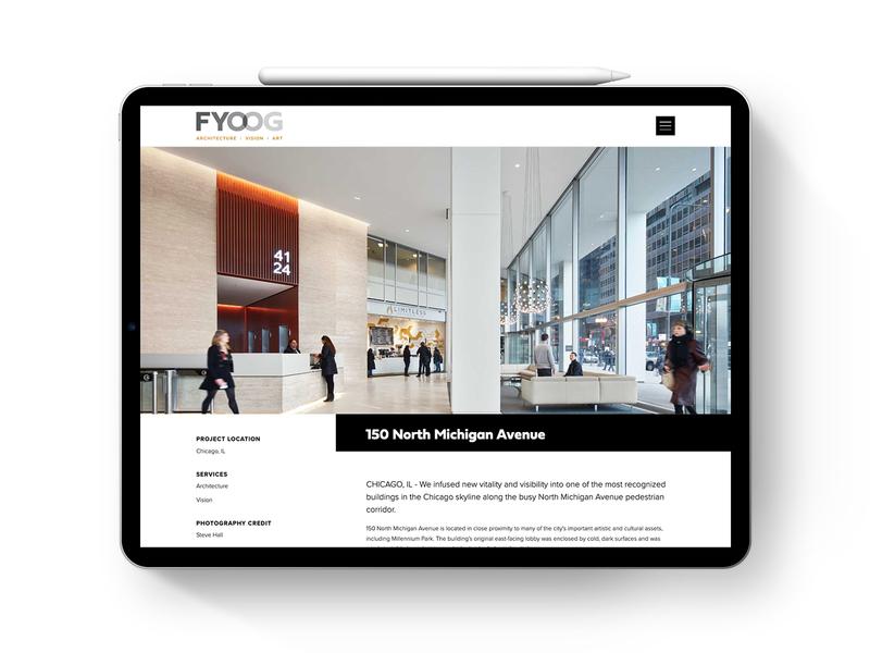 FYOOG Tablet Web Design art direction logo branding website visual identity