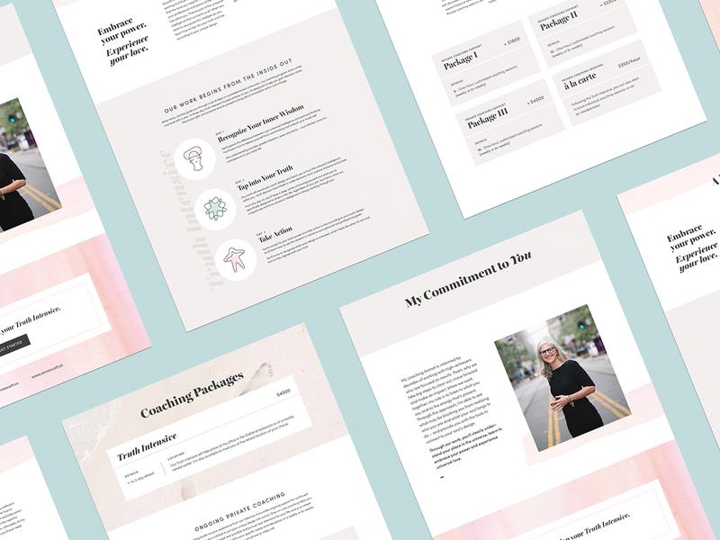 Anna Scott Coaching social media design digital design website visual identity