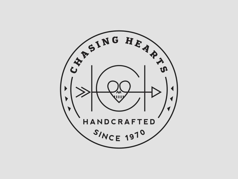 Chasing Hearts Identity monogram logos branding badge