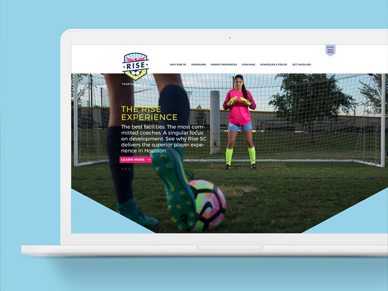 RISE Soccer Club Identity digital design website branding logo visual identity