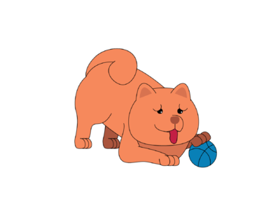 Tofu the Chow's Playtime