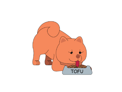 Tofu the Chow's Meal Time