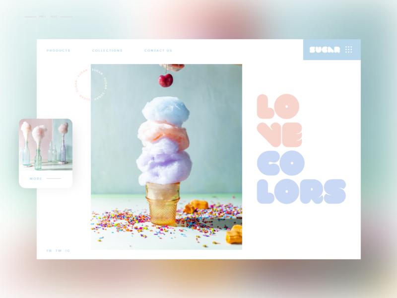 Sugar #3 uidesign branding website uxdesign slider app web ux ui design