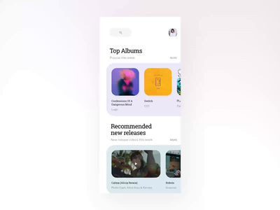 Music App Concept 02 searching concept music app uxpin iphone x ios animation