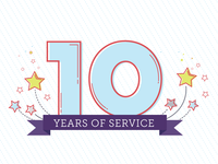 10 years of service