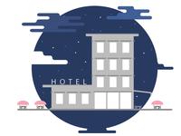 Hotel in the night