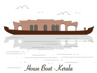 House boat - An icon that stands for Kerala.
