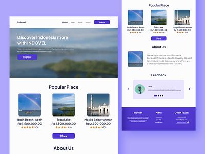Indovel - Travel Agency Web ui app minimal design web