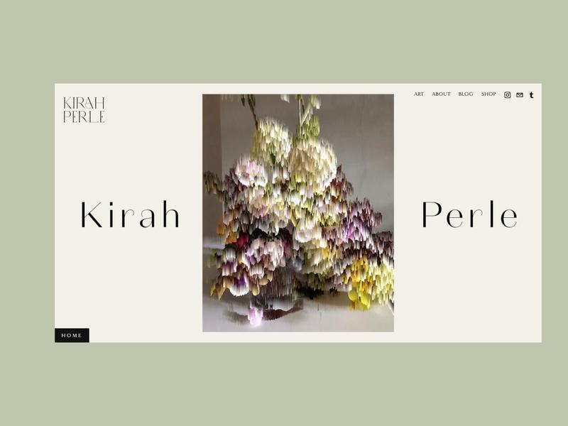 Website for Kirah Perle artist website concept squarespace website web design webdesign branding graphic design