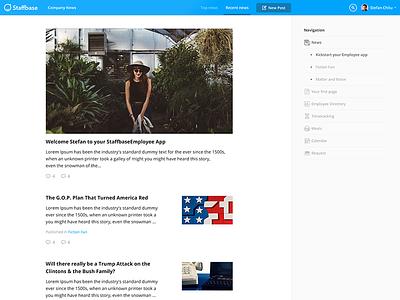 Newsfeed for web platform web admin staffbase newsfeed news