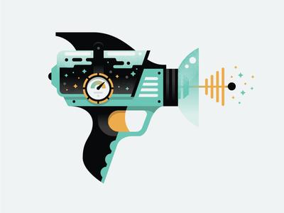 Ray Gun 01 blaster stars illustration adventure cosmic alien space weapon laser raygun