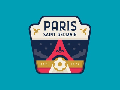 PSG sports eiffel icon france paris logo badge soccer crest