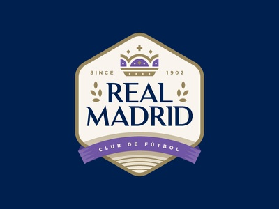 Real Madrid sports icon logo crest badge royalty crown madrid spain soccer