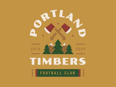 Portland Timbers mountains woods axe illustration badge soccer mls portland timbers